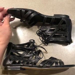** - 👉Isola Black Gladiator leather sandals